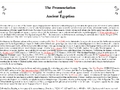 The Pronunciation of Ancient Egyptian