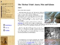 The Theban Triad: Amen, Mut and Khons
