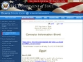 US State Department - Egypt Consular Information Sheet